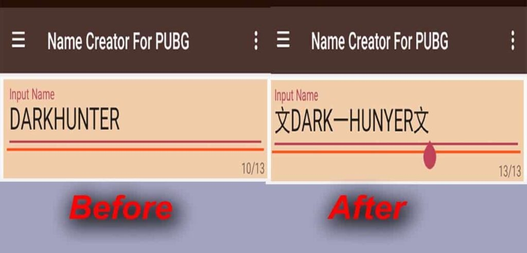 How to change the name of PUBG with attractive Symbols