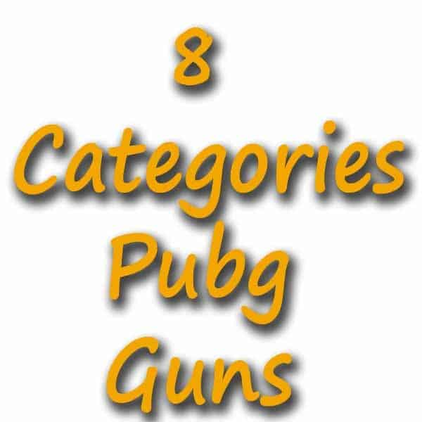 List of PUBG weapon with category: