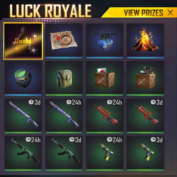 Unlock ancient Rome bundle from gold royale in free fire