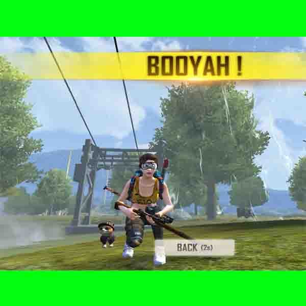 Booyah in free fire game.