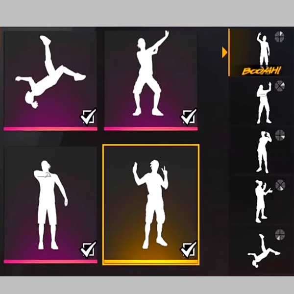emotes in free fire.