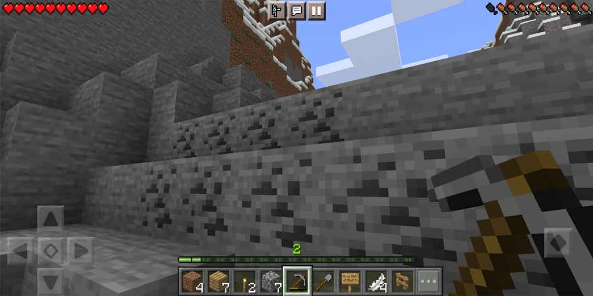 coal in Minecraft.
