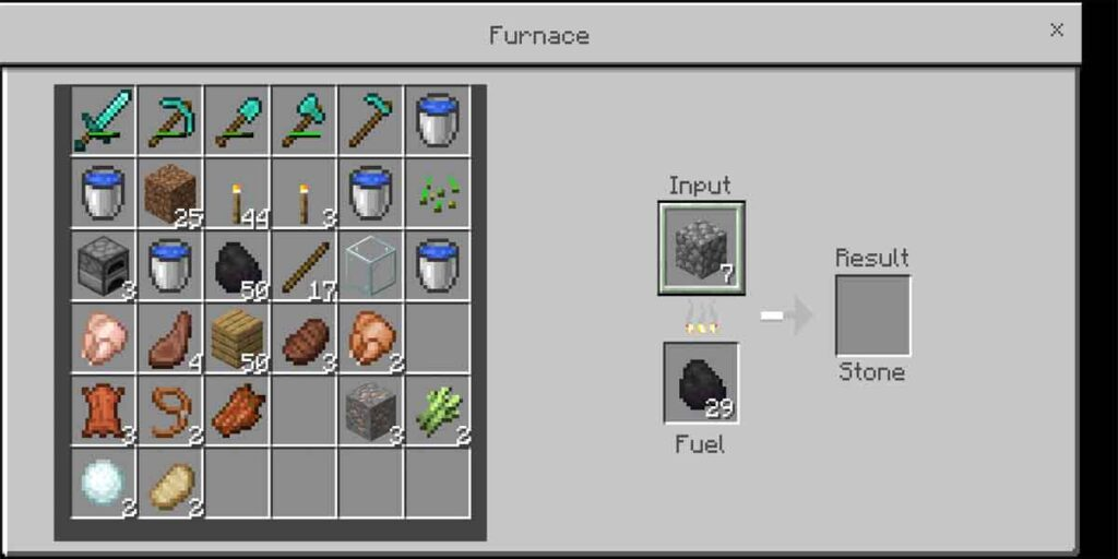 The coal is used for smelting the items to make a new things.