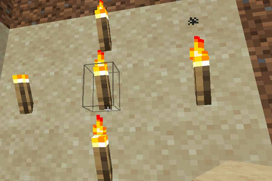 What is the procedure of making torch in the minecraft game.