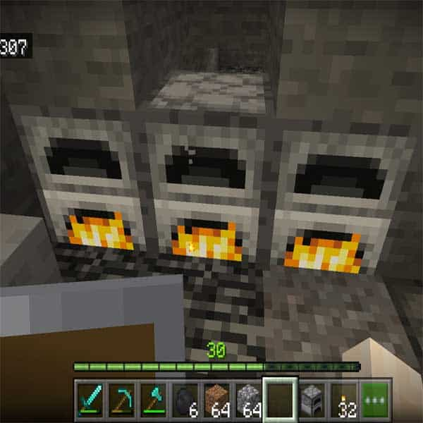 The cobblestones is used for crafting the furnace in the Minecart. You can look see a picture making it.
