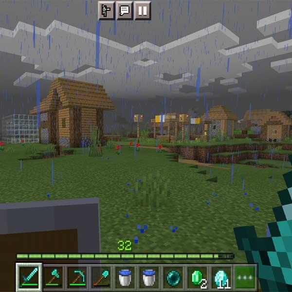 Village in the Minecraft.