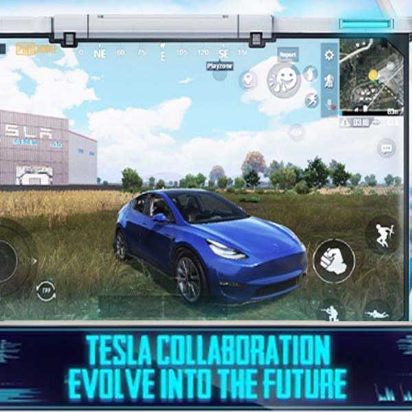 mission ignition ranked mode in Pubg mobile. Photo of Tesla car
