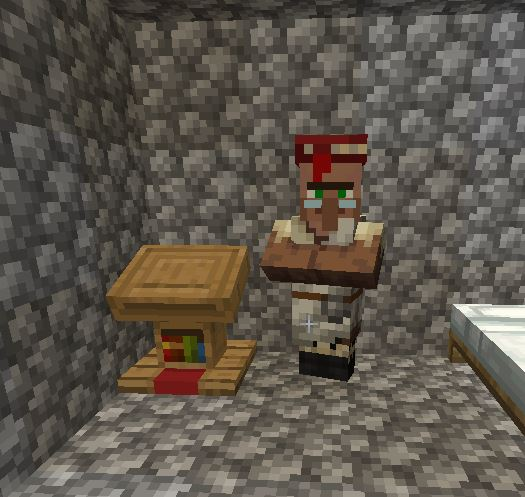 you can use a Lectern to give a job to your villager in Minecraft.