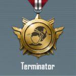 Terminator title in Pubg mobile
