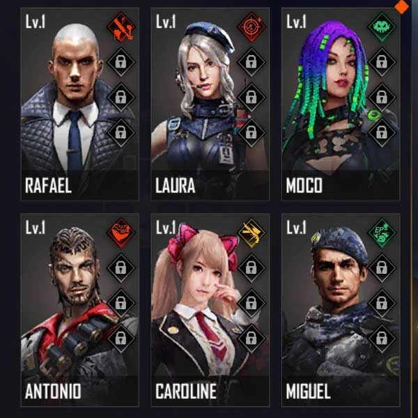 Best gold characters in Free fire with an ability like a diamond character