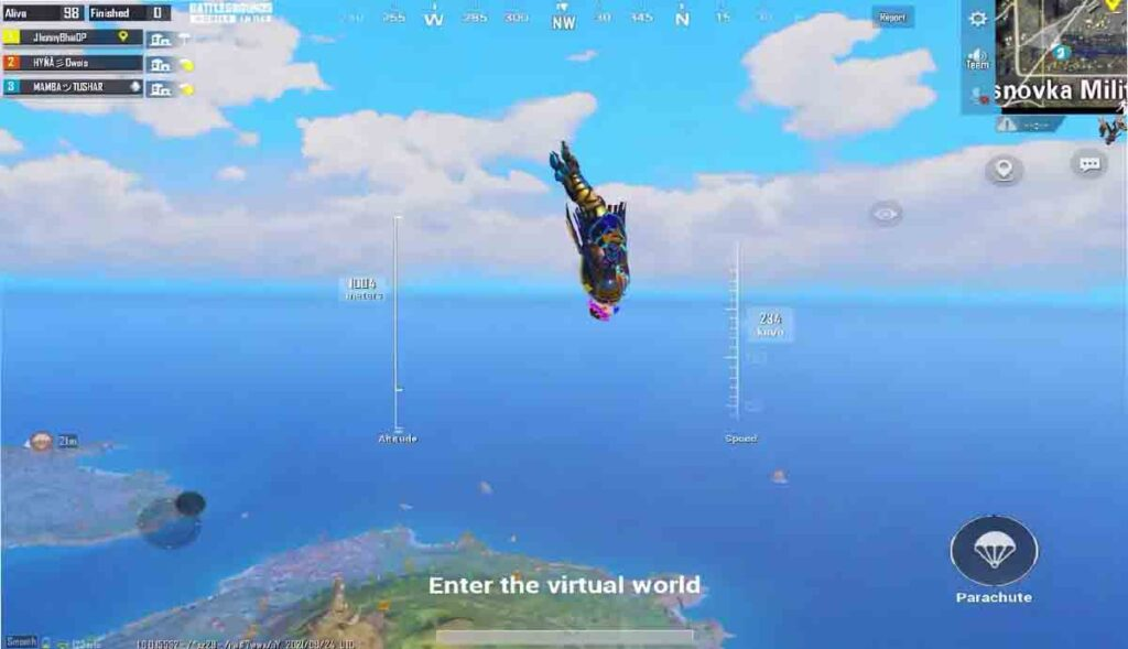 Jumping from airplane in Pubg mobile and BGMI