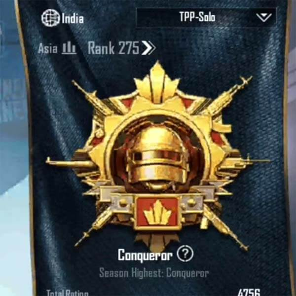 How to become a solo conqueror in BGMI? Get more plus points.