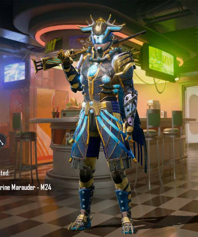 The Marine Marauder: it is the outfit of Pubg mobile Cycle 1 season: month 2