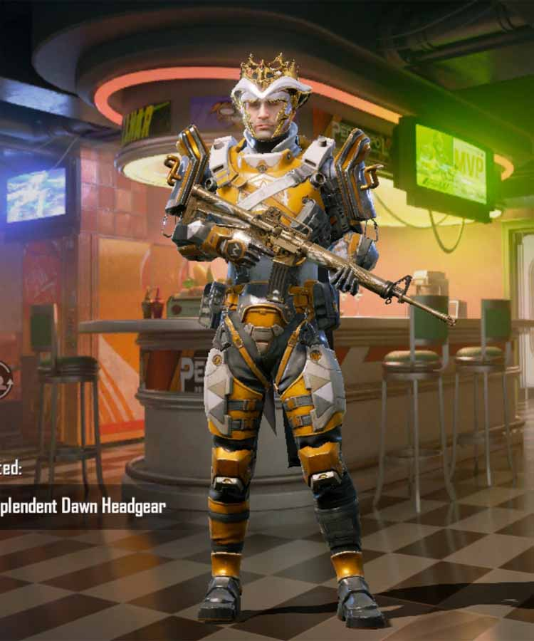 season 17 100 RP-rank outfit in PUBGM: Guardian armor