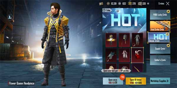 Mythic fashion outfit in Pubg mobile