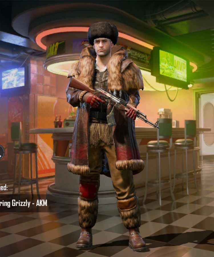 The mad bear set in pubg mobile: a Season 4 outfit