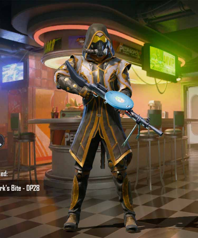 Bronze armor outfit of season 8 in Pubg mobile